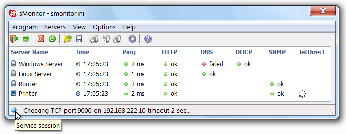 Monitor local and remote server connections with a server uptime monitor. easy Screen Shot